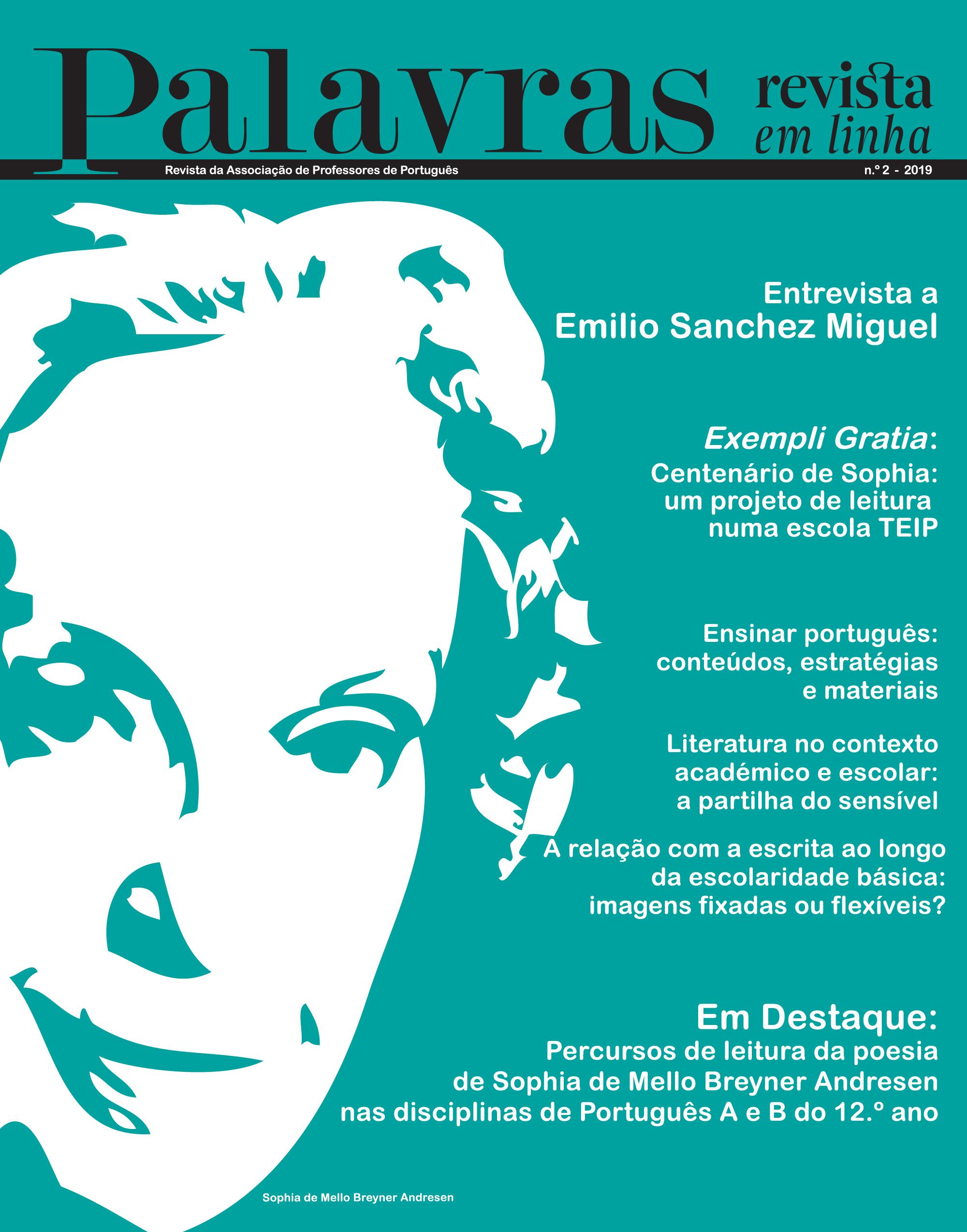 Palavras - revista em linha, Sophia de Mello Breyner Andresen